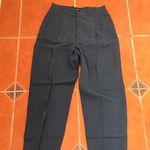 🌼80's Vintage Blue LINEN Trouser Pants